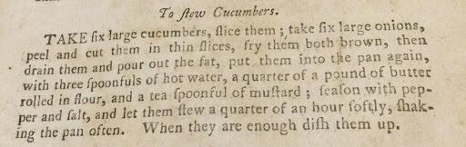 Cucumbers recipe